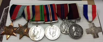 Medal group belonging to Sgt David Derham, Fighter Plotter at Biggin Hill during the Battle of Britain; 2018.4