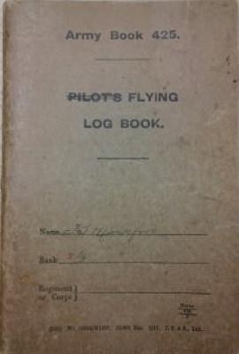 WW1 Flying log book belonging to Wireless Officer Stanley Mockford; RAF; L008.1