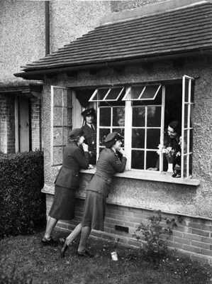 photo negative - Biggin Hill WAAF's quarters; 1940; 2018.1.394