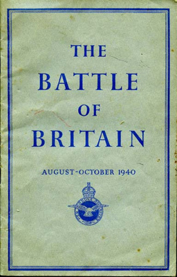Booklet entitled 'The Battle of Britain. August - October  1940'.  ; Air Ministry; 2017.11.8
