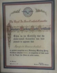 Voluntary working party certificate ; Royal Air Force Comforts Committee; 10/02/1942; 2018.3