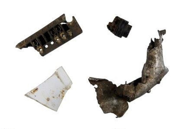 Fragments from Biggin Hill sector crash 18 August 1940; 2017.3