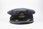 RAF Service Dress cap belonging to Pilot Officer Peter Pool; Gieves Ltd.; 2017.29.1