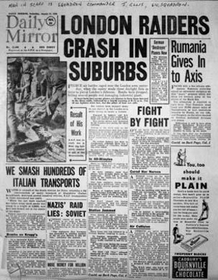 photo negative - 610 Squadron; Daily Mirror Newspaper; 31 August 1940; 2018.1.285