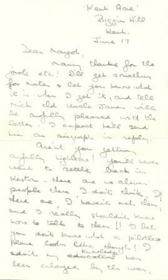 A letter dated June 17th 1944 from Olivia Archard to her sister Margot; Archard, Olivia; 17/06/1944; L001.7