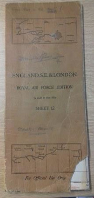Flying map belonging to Wing Commander Douglas 'Grubby' Grice; RAF; L010.2