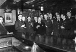 photo negative - pilots at the White Hart Pub, Brasted; 1940; 2018.1.507