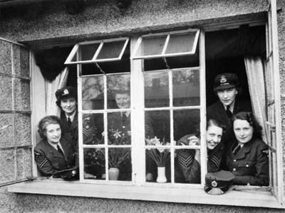 photo negative - Biggin Hill WAAF's quarters; 1940; 2018.1.393