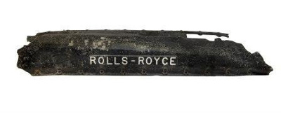 Rocker cover from right hand bank of Merlin III engine, stamped Rolls Royce; Rolls Royce; L003.1