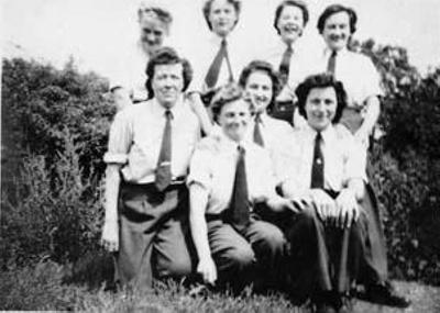 photo negative - Biggin Hill WAAF's; 1940; 2018.1.404