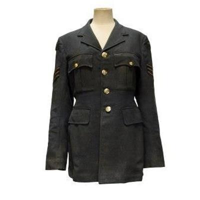 RAF jacket belonging to Sgt David Derham, Fighter Plotter at Biggin Hill during the Battle of Britain; 2017.17