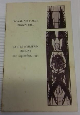 RAF Battle of Britain Service booklet, Sunday 18th September 1955; 2017.19.7