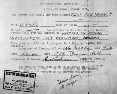 photo negative - Station Pass, June 1940; Newman, G; 4th June 1940; 2018.1.343