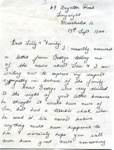 A letter to Lilian Simpson and family from Ethell, 17th September 1944. ; 17/09/1944; 2017.11.35