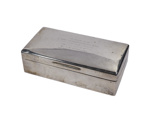 Flying Officer 'Bobby' Oxspring (later Squadron Leader) silver cigarette case; L004.3