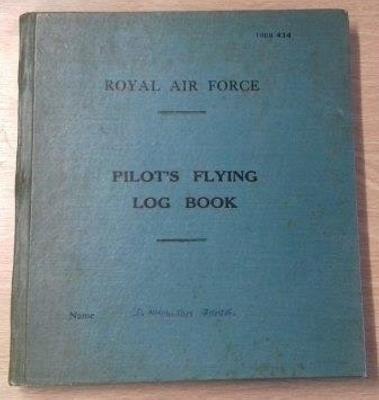 Flying log book belonging to Wing Commander Douglas 'Grubby' Grice; RAF; L010.1