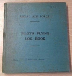 Flying log book belonging to Wing Commander Douglas 'Grubby' Grice; RAF; L010.1