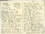 A letter to Harry Simpson from his mother, dated Tuesday 18th April.  ; Simpson, Mrs; 18/04; 2017.11.32