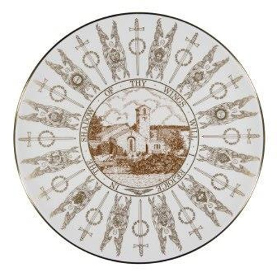 Commemorative Coalport plate depicting St George's RAF Chapel; 2017.28