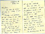 A letter to Lilian Simpson from signed 'Olive'.; 2017.11.34