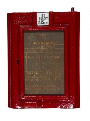RAF Biggin Hill Post box cover plate + tags ; 2017.13