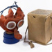 Child's gas mask and box; L004.2