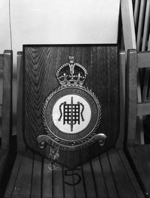 photo negative - RAF Fighter Command Crest; RAF Club, London; 2018.1.340