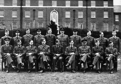 photo negative - Biggin Hill Headquarters Staff; Stuart, DR; 1940; 2018.1.367