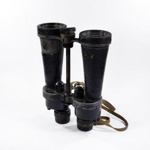 Royal Observer Corps Binoculars and leather case; 2017.2