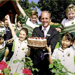85 th Birthday of WEsley College in 1008 Headmaster Gee with cake and students; Internal; 2008; 2008/1