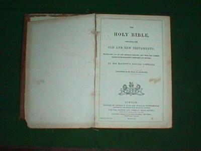 Bible; G.E. Eyre & W. Spottiswoode; 1855; 324.000