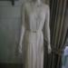 Wedding Dress, cream silk georgette,; 1052.001