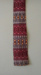 Necktie; Parisian, red tone,  horizontal pattern, slim fit, square end.; Parisian Neckwear Company Limited