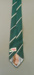 Necktie: Klipper, green toned British stripe necktie with peek-a-boo pinup girl.; Klipper