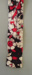 Necktie; Madras, batik pattern in red and black tones, square ends.; Madras