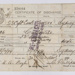 """Discharge Certificate from """"SS Captain Cook""""; 2008.162.2"""