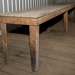 Large wooden flat topped table.; 2019.16