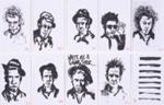 Portraits: 10 faces of Waits; Mitch Storck (Australian, b.1983); 2014; 2015.181