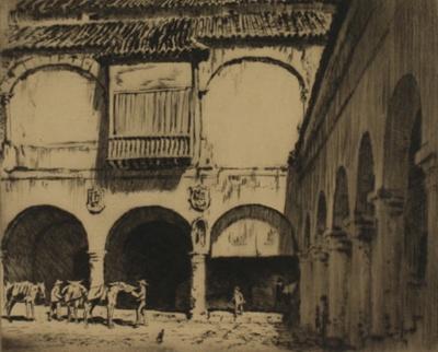 The Old Moorish Market, Granada (The Moorish Market,...); Lionel Lindsay (b.1874, d.1961); 1926; 2016.46