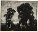 The Edge of the Plains; Lionel Lindsay (b.1874, d.1961); 1924; 2016.142