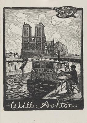 Bookplate of Will Ashton; Lionel Lindsay (b.1874, d.1961); 1950; 2017.364