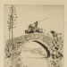 Travelling with Fighting Bulls (bulls on the bridge, Andalusia, Spain); Lionel Lindsay (b.1874, d.1961); 1920; 2016.36