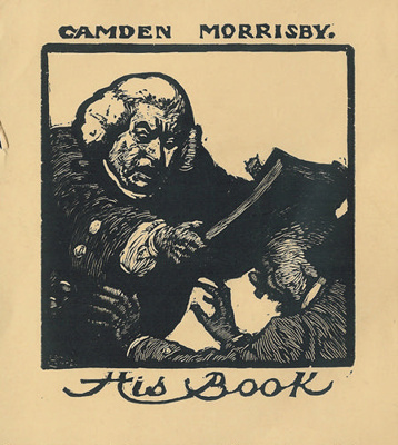 Bookplate of Camden Morrisby. Camden Morrisby His Book; Lionel Lindsay (b.1874, d.1961); 1922; 2004.084