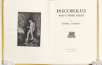 Discobolus and other verses by Lionel Lindsay; Lionel Lindsay (b.1874, d.1961); 1959; 2016.216