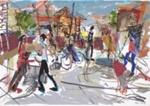 Chaotic Street Scene, seven figures; Rodney Holdaway (New Zealander, b.1958); 2014; 2015.237