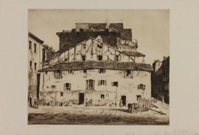 Old Basque Houses, San Sebastian, Spain (Basque Houses); Lionel Lindsay (b.1874, d.1961); 1927; 2016.59