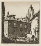 A little square, Segovia; Lionel Lindsay (b.1874, d.1961); 1927; 2016.52