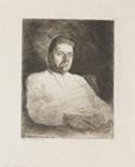 Portrait of Chistopher Brennan; Lionel Lindsay (b.1874, d.1961); 1914; 2017.351