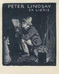 Bookplate of Peter Lindsay; Lionel Lindsay (b.1874, d.1961); 1923; 2004.086