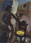 Venice Nude (with yellow chair); Wendy Sharpe (b.1960); 2009; 2015.238